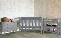 Modern, gray nursery furniture from @walmart! | Baby Mod Ava Collection