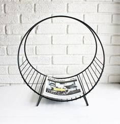 My husband could build this Mid Century Modern Magazine Rack because he's a badass, sexy welder Mid Century Decor, Mid Century House, Mid Century Style, Mid Century Modern Design, Mid Century Furniture, Danish Modern, Midcentury Modern, Modern Interior, Interior Design
