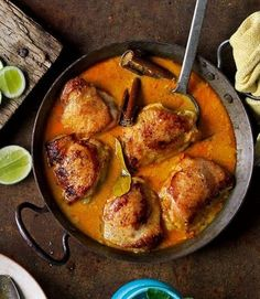 A spicy, flavoursome coconut and chicken curry, with lemongrass. Serve this easy Malaysian-style chicken recipe with white fluffy rice. Malaysian Cuisine, Malaysian Food, Malaysian Recipes, Malaysian Chicken Curry, Yummy Chicken Recipes, Yummy Food, Chicken Meals, Indian Food Recipes, Asian Recipes
