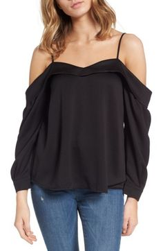 Leith Leith Satin Off the Shoulder Top available at #Nordstrom
