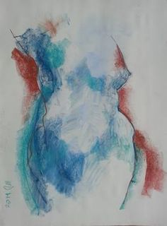 "Saatchi Art Artist Badri Valian; Drawing, ""Nude"" #art"