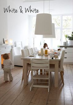 """ a white family home "" By the style files - Danielle de Lange"