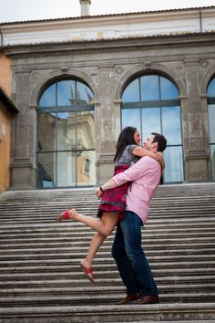 Romantic Engagement Style Photos in #Rome Italy by Andrea Matone photographer.