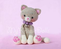 Crochet Pattern - My Little Kitty - Amigurumi Chat Crochet, Crochet Amigurumi, Amigurumi Patterns, Amigurumi Doll, Crochet For Kids, Crochet Dolls, Crochet Cat Pattern, Crochet Animal Patterns, Stuffed Animal Patterns