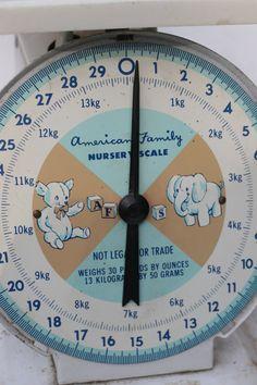 10 OFF SALE  Vintage Baby Scale American by vintageatmosphere, $33.99