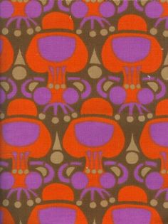 modflowers: Finnish vintage fabric designed by Helena Perheentupa 1968