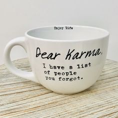 Coffee Quotes Funny, Funny Coffee Mugs, Funny Mugs, Funny Bar Quotes, Coffee Gifts, Mug Designs, How To Know, Cool Gifts, Karma