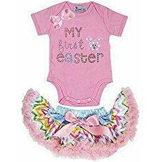 Kirei Sui Baby Baby Rainbow Pettiskirt First Easter Bunny X-Small Pink