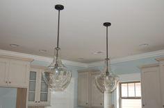 Jug lights-Pendants over the kitchen island.