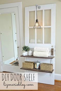 DIY door shelf - lizmarieblog.com