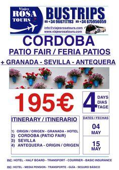 No te quedes sin tu tour a Córdoba!!! www.viajesrosatours.com info@viajesrosatours.com (+34)966717783  (+34)675956059p