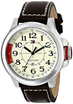 Tommy Hilfiger 1790844 Stainless Steel Sport Watch with Leather Band * Click image for more details. (This is an Amazon Affiliate link and I receive a commission for the sales)