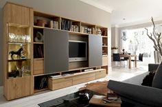 furniture, Wooden Wall Units Design Ideas And Tv Cabinet Design With Light Wood Entertainment Center Wall Unit With Wooden Flooring And Grey Comfy Sofa Design And Furniture Ideas: Inspiring Wooden Wall Unit Design for Family Room Modern Tv Cabinet, Tv Cabinet Design, Tv Unit Design, Tv Stand Modern Design, Tv Stand Designs, Entertainment Center Wall Unit, Home Entertainment, Entertainment Furniture, Living Room Sets