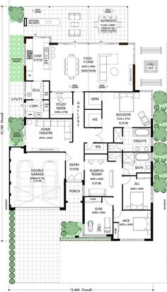 Floor Plan Friday: His and Hers robes Kitchen Living, Kitchen Pantry, Outdoor Spaces, Pantry, Kitchen Diner Lounge, Outdoor Rooms