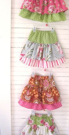 Ruffle skirts tutorial if you own a sewing machine get making these. cute and easy..