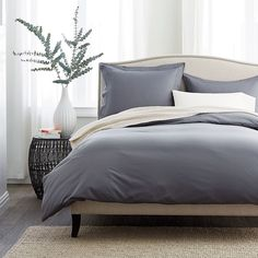400-Thread Count Supima® Percale Duvet Cover | The Company Store