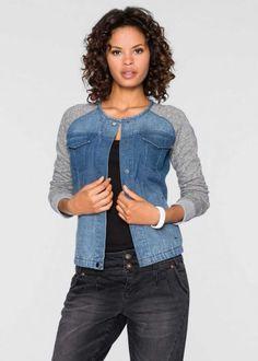 Jeansjacke im Materialmix, RAINBOW, bluestone Denim jacket in material mix, RAINBOW, bluestone Cut Shirt Designs, Next Jeans, Jeans Refashion, Clothes Refashion, Diy Vetement, Rainbow Outfit, Denim Ideas, Denim Crafts, Jean Crafts