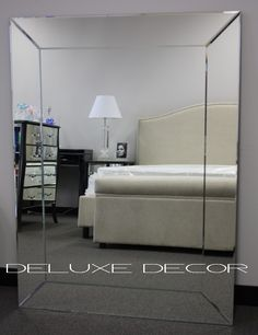 large frameless mirror. Bevelled Frameless Rectangle Wall Mirror 4519S (1200 X 900 Mm) Http:// Large C