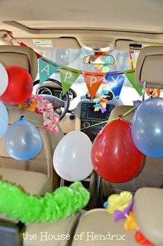 14 more ways to make kids feel Special on their Birthday Ways to make your child feel special on their birthday. Imagine getting into your car on your birthday and it's fully decorated! Check out these fresh ideas from the House of Hendrix Birthday Surprise Husband, Birthday Morning Surprise, Birthday Bash, It's Your Birthday, Girl Birthday, Birthday Parties, Birthday Gifts, Birthday Celebrations, Birthday Quotes