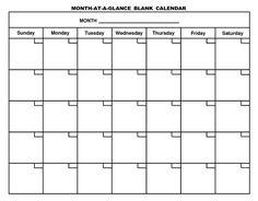blank calendar sheets