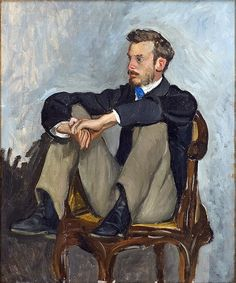 Frederic Bazille, Portrait of the Auguste Renoir 1867