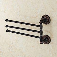 antique black towel rail brass double towel bar move towel rack bathroom towel rails bathroom accessories 3150