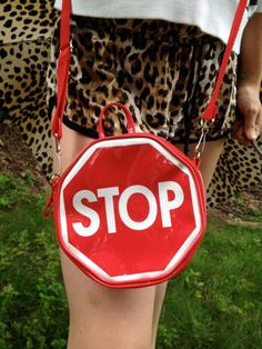 90s STOP Sign Purse by thatVideoVAMPvintage on Etsy, $70.00