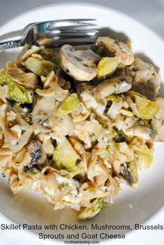 ... brussels sprouts creamy fettuccine with brussels sprouts mushrooms