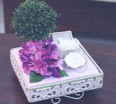 Lilac & Green gift tray Wedding Gift Boxes, Wedding Favors, Diy Wedding, Wedding Gifts, Dream Wedding, Wedding Decorations, Malay Wedding, Engagement Gifts, Wedding Engagement