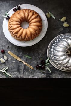 cherry, almond and olive oil cake by lean + meadow