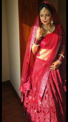 Drashti Dhami Wedding dress lengha