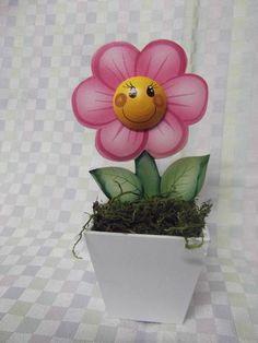 Mini vaso  de flor em mdf nº1 | Artesanatos Ingrid Carvalho | 16FA83 - Elo7
