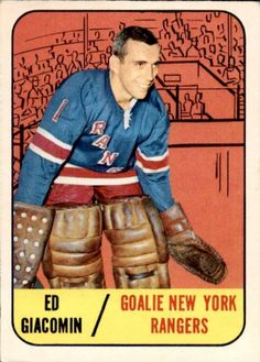 A look at some of the vintage hockey cards and sets from the original six NHL franchises. Hockey Goalie, Ice Hockey, Hockey Cards, Baseball Cards, Nhl, Goalie Mask, Star Wars, New York Rangers, Vintage Cards