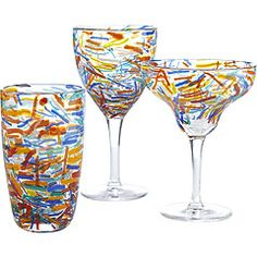 Confetti glasses from Pier One...  These tumblers make me smile big.  I might have to add these to the cupboard!