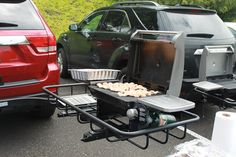 """Amazon.com: StowAway Hitch Grill Station - Swingaway Frame, 1.25"""" Hitch: Sports & Outdoors Truck Hitch, Bumper Hitch, Trailer Hitch Accessories, Grill Station, Off Road Trailer, Best Camping Gear, Mobile Boutique, Grilling, Bbq"""