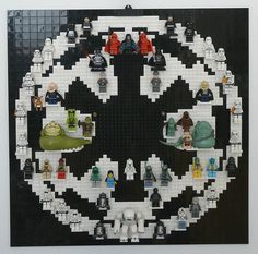 "LEGO STAR WARS Imperial Minifigure Display ""on the Wall "" (64x64)"