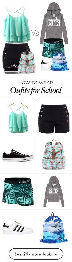 """""""1st month of middle school vs second month"""" by musicislife166 on Polyvore"""