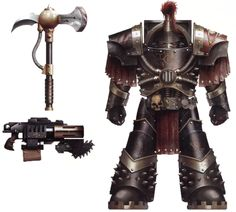 Justaerin Terminator War gear(The Justaerin were one of two distinct sub-formations within the elite 1st Company of the Luna Wolves and later the Sons of Horus Legion)