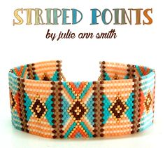 STRIPED POINTS Bracelet Pattern | Bead-Patterns.com