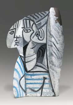 Pablo Picasso  1881 - 1973  SYLVETTE  Estimate: 12,000,000 - 18,000,000 USD  Painted metal  Height: 27 1/2 in.  70 cm  Executed in 1954.
