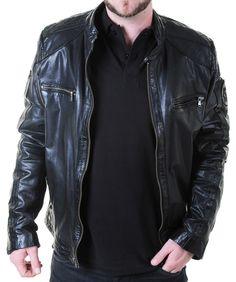 22b70ba4e4 Veste en cuir Redskins Homme Starter Harlington noir Prix: 332 euros -  Tailles disponibles L