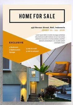 Golok Professional Real Estate Flyer by letterhend on Envato Elements Real Estate Templates, Real Estate Flyer Template, Simple Powerpoint Templates, Flyer Design Templates, Real Estate Flyers, Presentation Design, Banners, A4, Layout