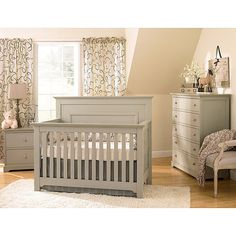 Munire Chesapeake Full Panel Crib, White Gender friendly in design, the chesapeake collection has made its mark in lifetime convertible. The panel design Grey Nursery Furniture, Baby Furniture, Furniture Decor, Grey Crib, Best Crib, Nursery Inspiration, Nursery Ideas, Room Ideas, Nursery Room