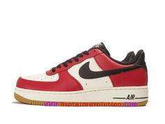 super popular 60b46 70d0a Nike Air Force 1 Chaussures LifeStyle Nike Pas Cher Pour Homme Blanc rouge  noir 820266 600