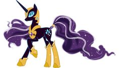 I was going to do Nightmare Moon but...but... I love Nightmare Rarity's design so much!!!! I haven't read the comics because as far as I'm aware they're not available in the UK, but I've seen her d...