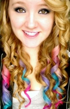 Curly dyed hair. Love it!