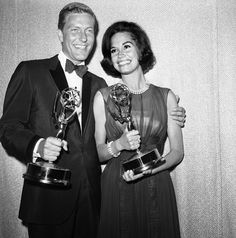 "1964 Emmy winners. Both Dick Van Dyke and Mary Tyler Moore won for ""The Dick Van Dyke Show"""