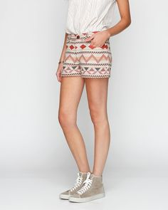 Geometric Tribal Shorts.....not feelin the shoes but I love the outfit!
