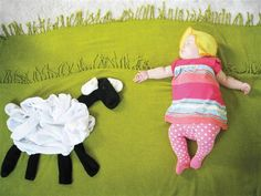 """Had to pin this one of the little one petting a lamb. More from Adele Enersen's book """"When My Baby Dreams."""""""