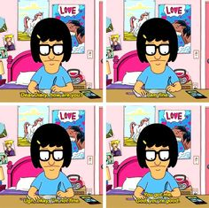 Bobs Burgers Funny, Crying At Night, Funny Test Answers, Tina Belcher, Feminist Icons, Best Tv Shows, Movies Showing, Spirit Animal, Funny Stuff